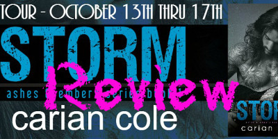 ARC REVIEW • JMELYNN & GIVEAWAY: STORM by Carian Cole