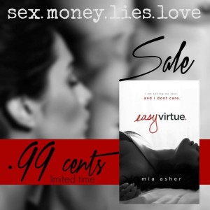 #99c SALE ALERT: EASY VIRTUE by Mia Asher‏
