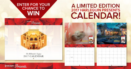 Ushering in 2017 #GIVEAWAY with a Limited Edition Harlequin Calendar